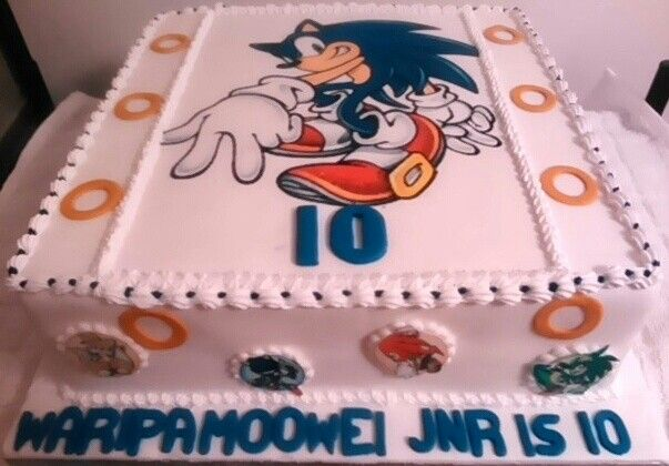 Sonic cakes by Sheila's Cake Creations Essex Uk