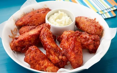 BBQ Chicken Wings with Blue Cheese Butter Recipe : Food Network UK