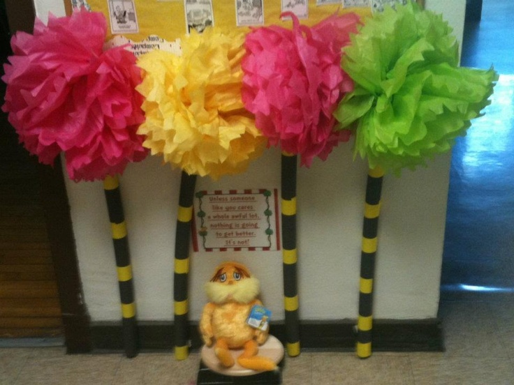 tissue paper truffula trees for The Lorax