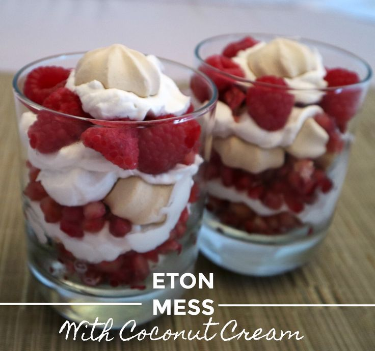 Easy Eton Mess with whipped coconut cream and berries