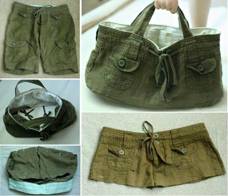 Upcycled Shorts Bag