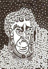 584 Zentangle Japanese Man