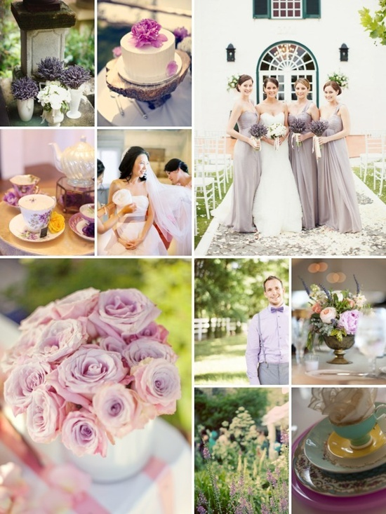 Lavender Tea Party Wedding Theme- perfectly shows the color scheme and lavender that we are going for.