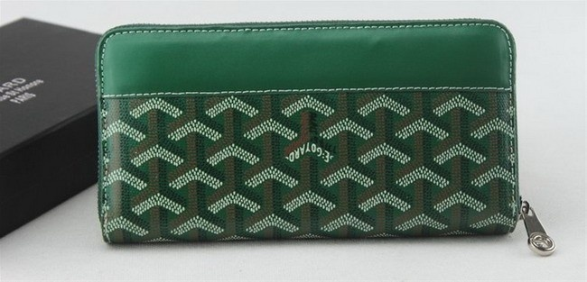 Amazing Goyard Zipper Long Wallet 020110 Green Cheap | How Much Is A Goyard Mens Wallet