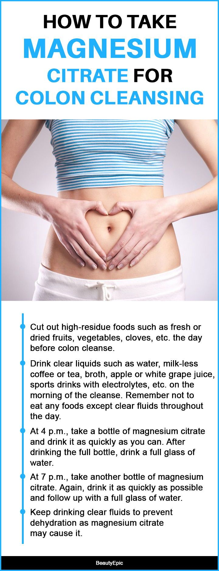 How to take magnesium citrate for colon cleansing