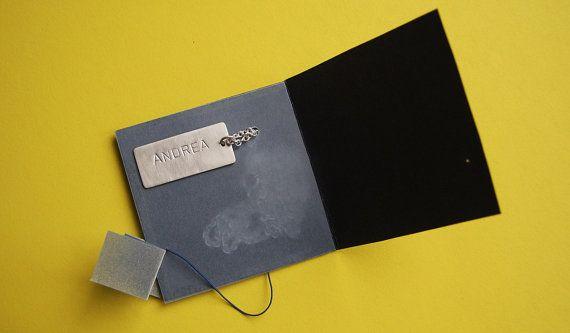 Nome tag collana con catena a mano in argento di MINRLhandcrafts