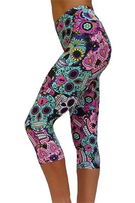 Kast skull print yoga capris. So much want...