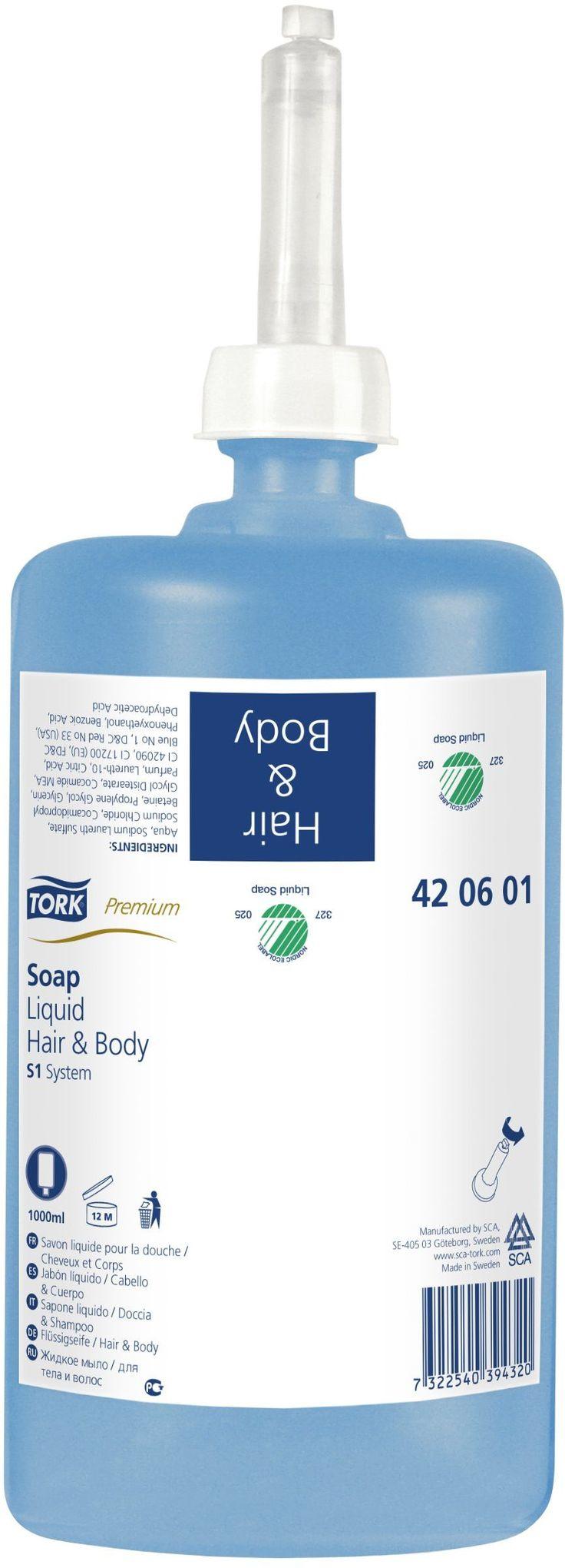 Sapunul lichid Premium Tork poate fi utilizat pe corp si par. Produce spuma bogata si cremoasa.