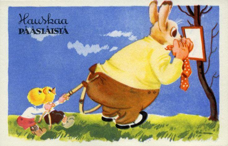 Hauskaa pääsiäistä #pääsiäinen #easter #kortit #cards #tiput #puput