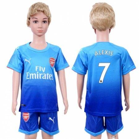 Arsenal Alexis Sanchez 7 Udebanesæt Børn 17-18 Kort ærmer