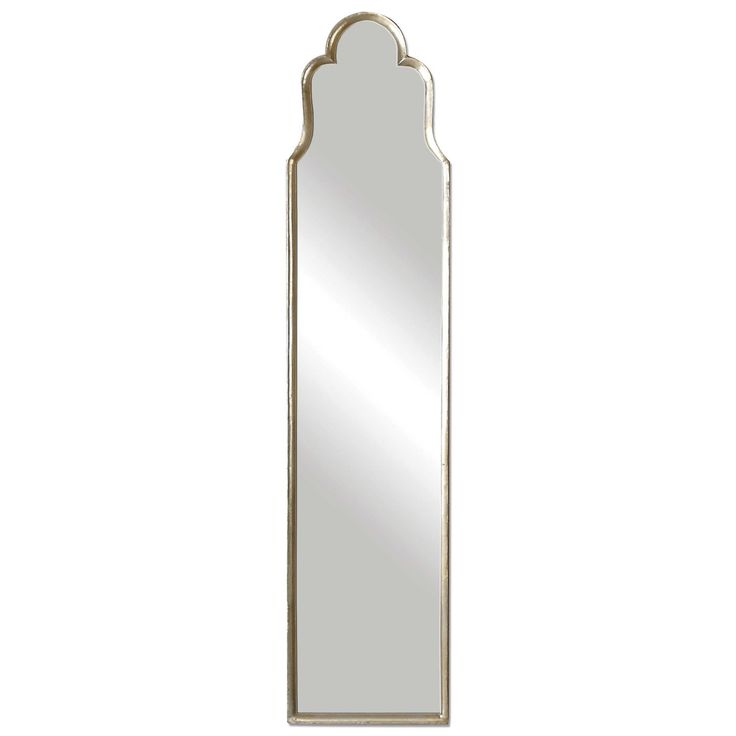 Cerano Arched Wall or Cheval Mirror  Curvaceous, Arched Metal Frame Finished In Plated Oxidized Silver.  May Be Hung On Wall Or Used Free Standing.  Designer:Grace Feyock  Dimensions:D: 3cm W: 36cm H:165cm