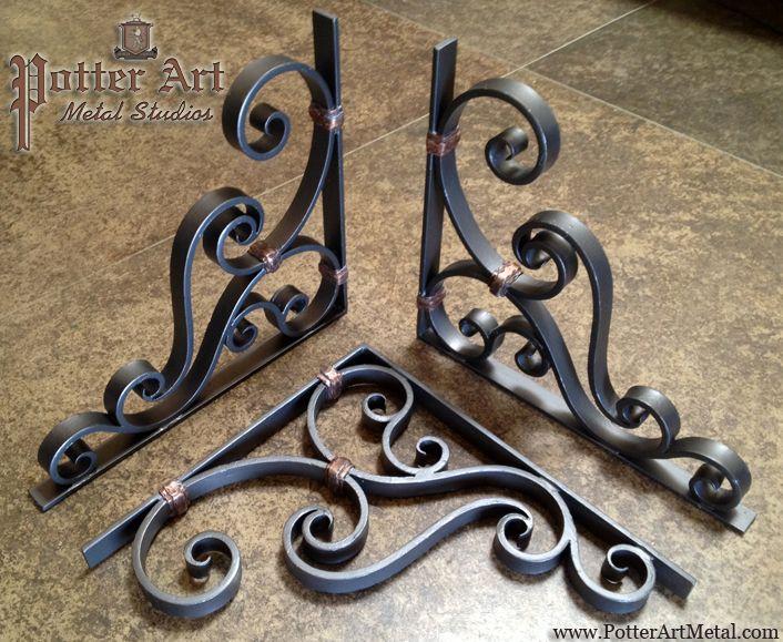Potter Art Metal Studios: Wrought Iron Corbels