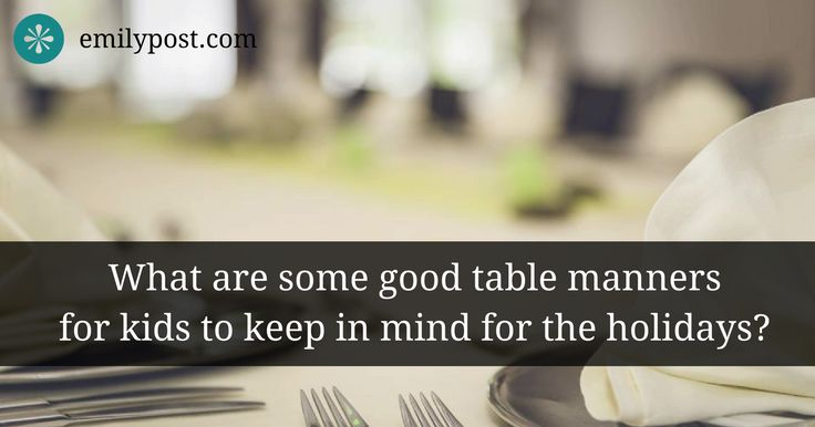 table manners kids