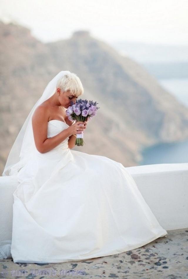 Elite Events Athens Lavender Wedding - Tasos & Peny - Peter Langner wedding gown