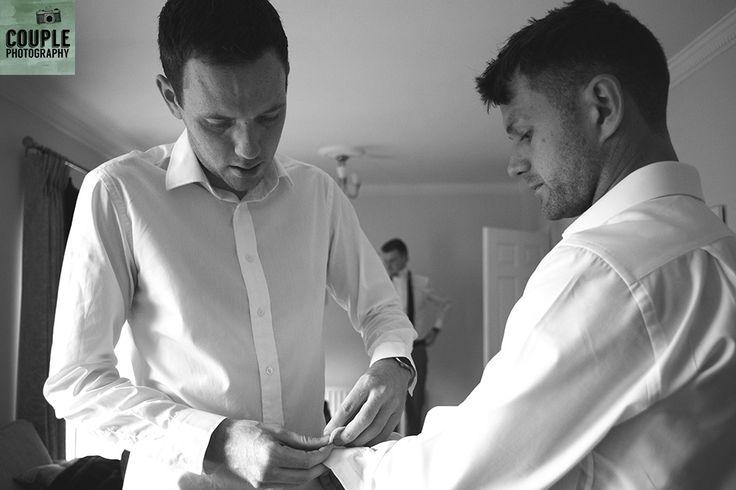 help, I cant do my own cuff links! Real Wedding by Couple Photography
