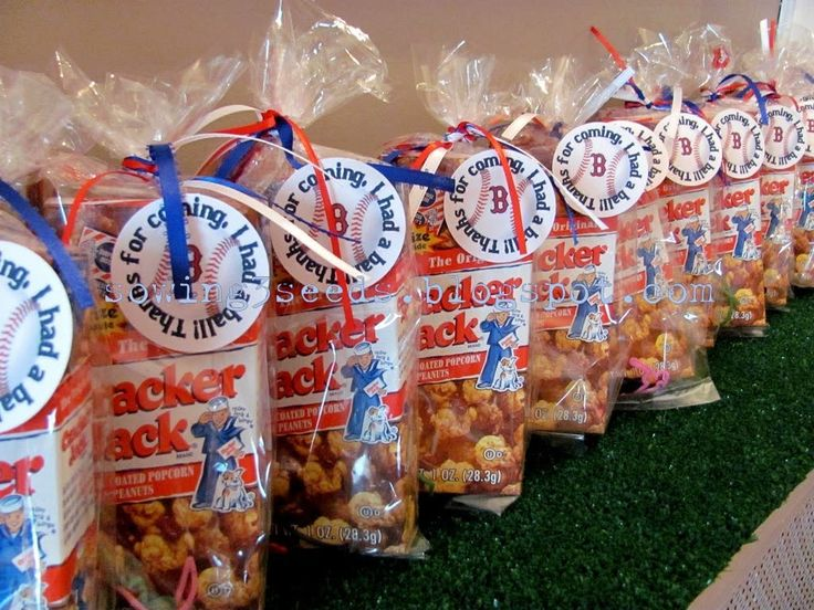 Play Ball Baseball Inspired Goody Bags Are Great For Birthday Parties Around A Sports Or Summer Theme Start With Some Cracker Jacks Pack Of