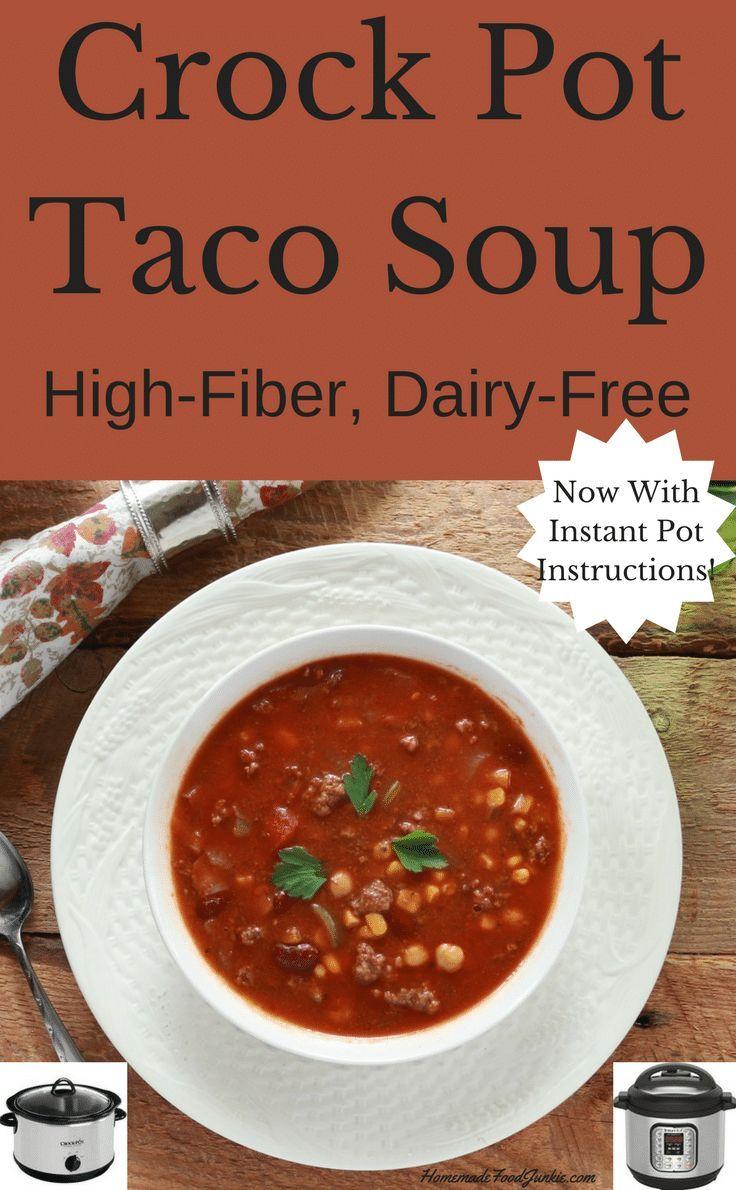 Tremendous Crock Pot Taco Soup With Instant Pot Instructions Recipe Interior Design Ideas Gentotryabchikinfo