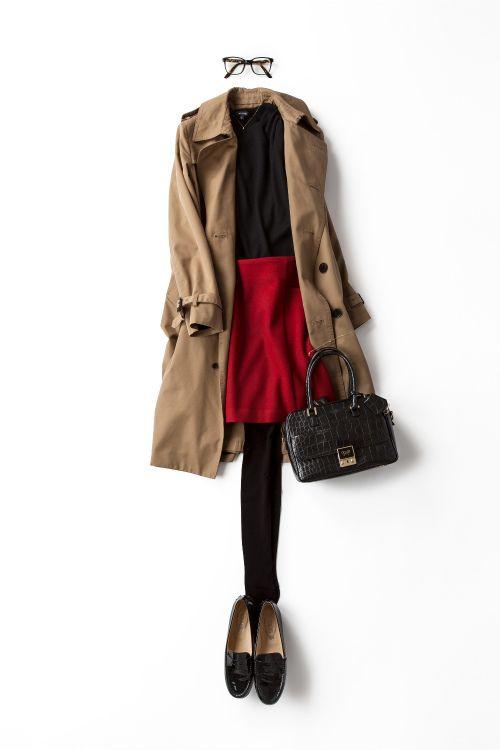 Kyoko Kikuchi's Closet | 映画のワンシーンのように赤をレトロに着る