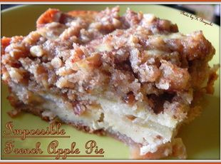 Impossible French Apple Pie Recipe - Cooking this right now in my Ninja.  Ninja 3 in 1 Cooking System   ... Great recipe.