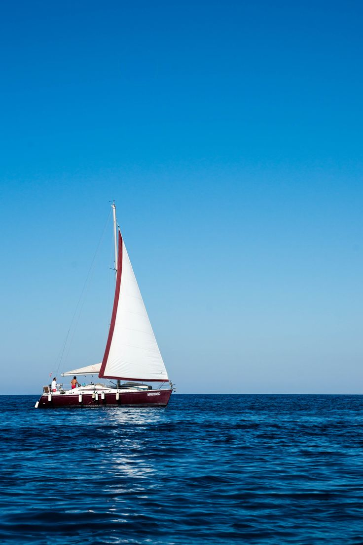 #sailboat on the coast of Cefalú