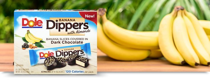 Banana Dippers with Almonds   Products   Dole