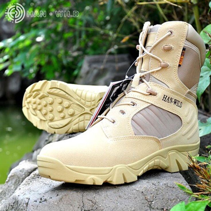 Высокие ударопоглощающие армейские мужские ботинки