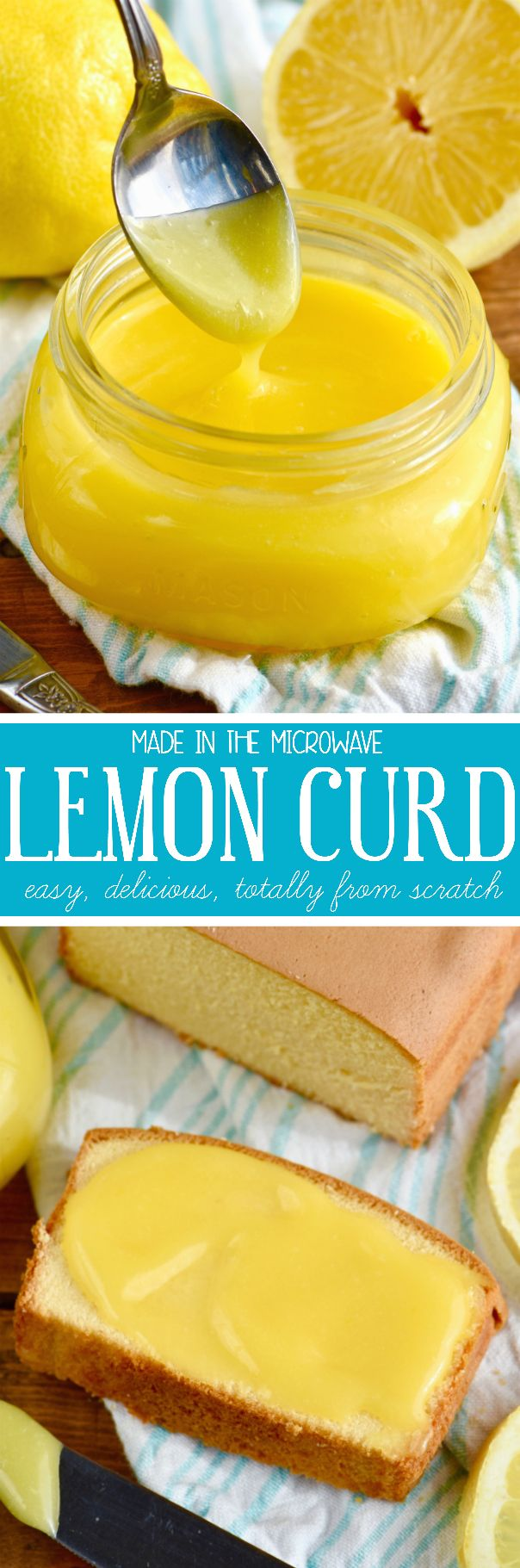 This Easy Microwave Lemon Curd is made with super basic ingredients and is so delicious! Use it in recipes or put it on bread!