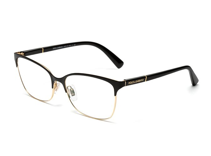 Black And Gold Eyeglass Frames : Womens gold & black eyeglasses with square frame Dolce ...