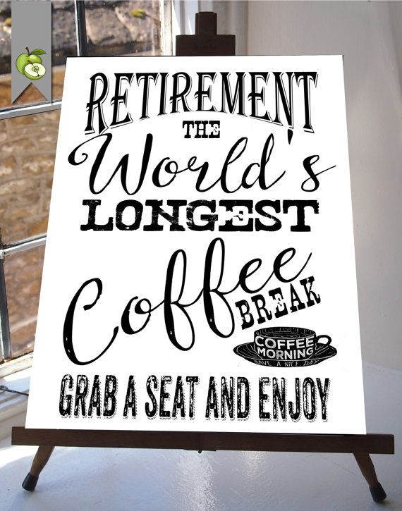 Pensioen download teken de langste koffie van TheArtyApples op Etsy
