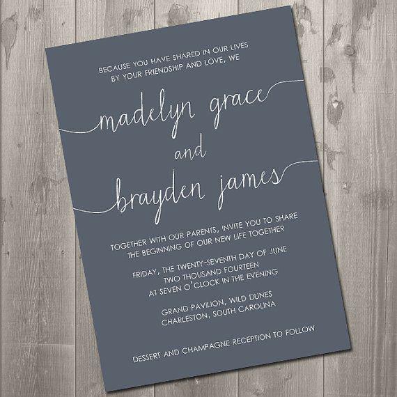 Diy Invitation Suite Scribble Collection Wedding Invitations