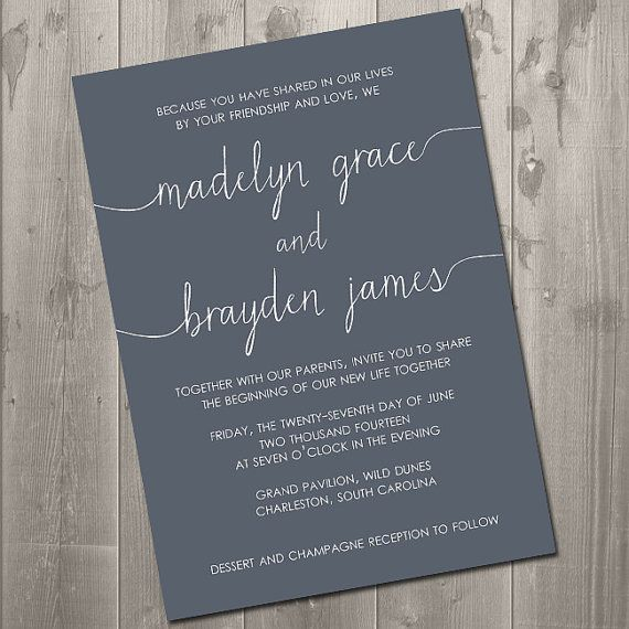 love the wording for the invitations. there will be a loose piece added to the few who are invited to the actual ceremony.