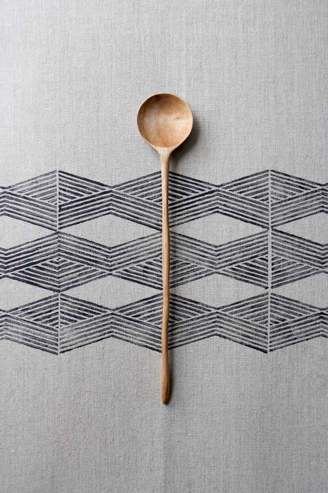 cuillère bois + patterns