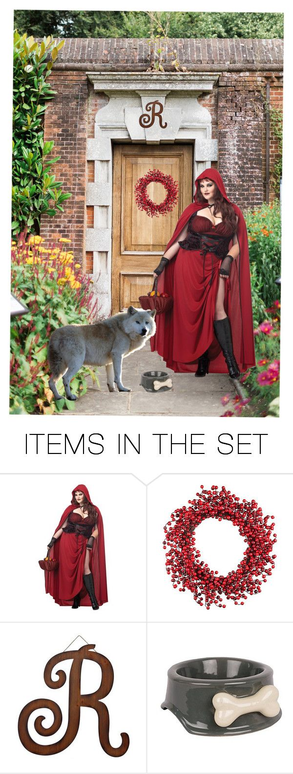 """""""A GIRL AND HER PET"""" by agordon9369 ❤ liked on Polyvore featuring art, cosplay, RedRidingHood and TAMEDBEAST"""