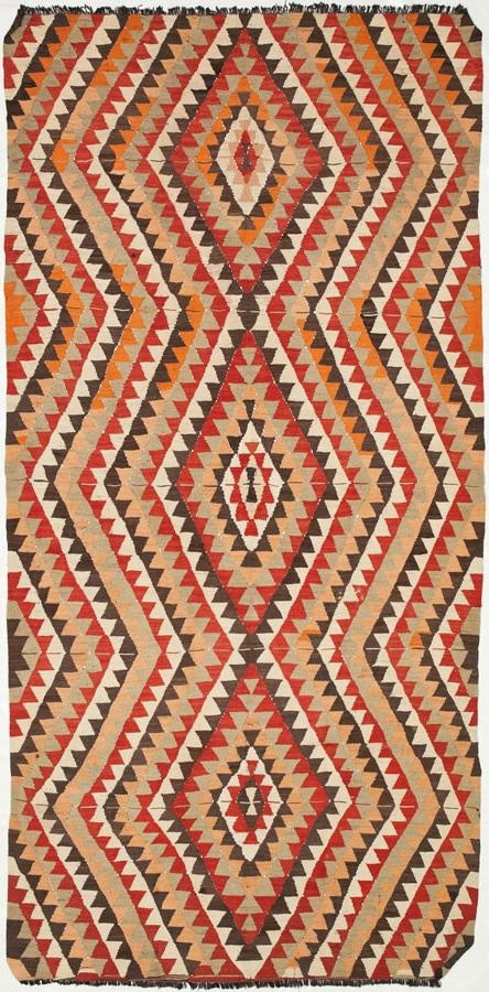 """Anatolian Kilim 5'3""""x10'7"""": Kilim Rugs, Dhurry Rugs, Tribal Rugs, Flatweave Rugs - ABC Carpet & Home"""