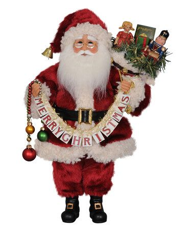Look at this #zulilyfind! Merry Christmas Santa Figurine #zulilyfinds