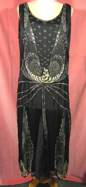 1920s Art Deco Beaded Embroidered Dress
