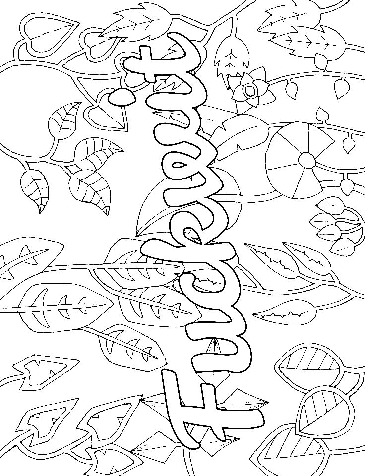 Cuss Word Coloring Pages on adult coloring pages for anxiety