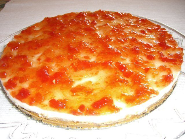 Mi tarta de queso con mermelada de tomate, una receta de Postres y dulces, elaborada por María José Bueno. Descubre las mejores recetas de Blogosfera Thermomix® Valencia Centro
