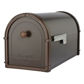 Architectural Mailboxes 10-in x 11.3-in Metal Oil Rubbed Bronze Post Mount Mailbox