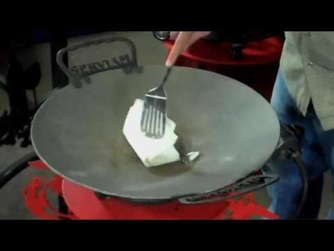 How To Season Your Disc-It, Discada Plow Disk Cooker Grill - YouTube
