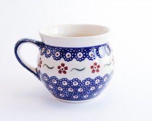 Barrel Mug 0.35l #PotteryCorner #Boleslawiec #Polishpottery #mug #serving