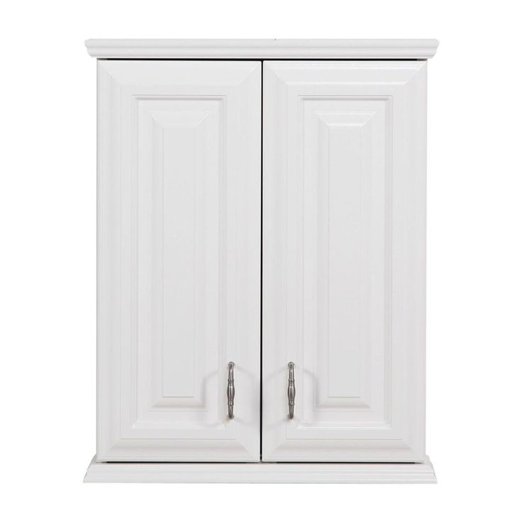 St Paul Providence 21 In W X 26 In H X 8 In D Over The Toilet Bathroom Storage Wall Cabinet In White Proj25com W The Home Depot Wall Cabinet Cabinet Above