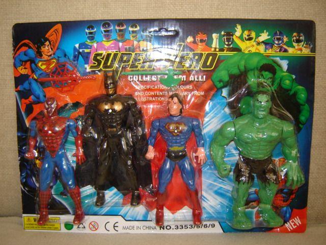 bootleg toys super hero spider man batman superman hulk bootleg iron man 2 starring