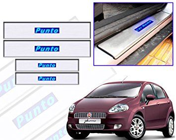 scuff plates with LED for Fiat Punto Model 2011-2014