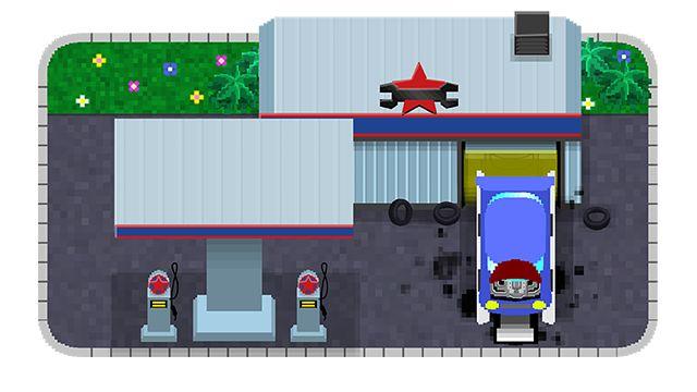 """Garage du jeu mobile Randstad """"Tiny Workers"""""""