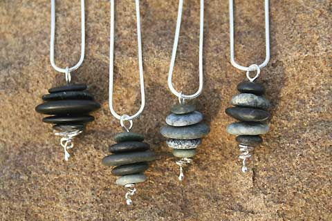 OK, who can tell me how to drill holes in rocks?  I love this but it's just so easy to make myself.  Well, depending on what I need to drill the holes in the stones.  anyone?  anyone?