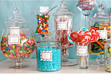 candy bar for the bridal shower