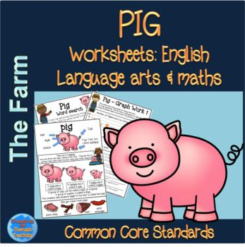 """In this pack I have created a variety of activities that you can choose from to use with you students. The information covered is aimed at a 2nd and 3rd Grade level and helps to build the learners' vocabulary within this theme. This """"pig pack"""" consists of the following"""