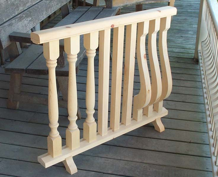 Victorian Porch wood post turning and railing products , Ontario, GTA, Toronto, verandah, balustrade, baluster, spindle , deck, rail, fretwork, corbels, custom millwork , lathe, historic, reproduction millwork at Hoffmeyer's Mill