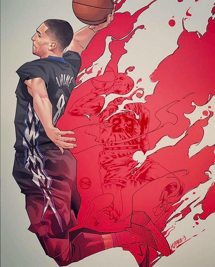 Zach LaVine Back-to-Back Illustration